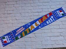 Echarpe satin silk scarf ITALIA signé signed ANGELO PERUZZI ultras calcio Italie