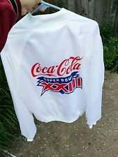 VTG 80S COCA COLA SUPER BOWL 23 XXIII WHITE SATIN STADIUM JACKET NOS RARE 49ERS