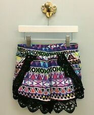 NWOT Flowers by Zoe  Girls Size: L   Geometric Print Shorts with Lace Trim