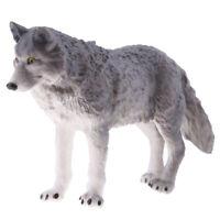 Lifelike Wolf Animal Model Figurine Action Figures Kid Playset Toy