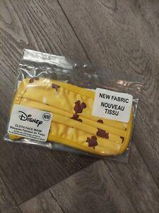 NWT Disney Cloth Face Mask Yellow Ice Cream Mouse Ears Size Medium