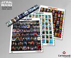 3 X Star Wars Poster Playing Card Proof Sheets - Poker - Limited Edition - New
