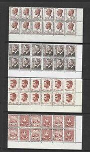 1950's Australia KGV1 Era Corner Blocks of 12 x 4, 2,5d, 3.5d, Pristine (48)