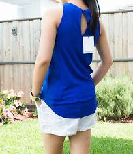 Sass Bide Solid Sleeveless Tank, Cami Women's Tops & Blouses