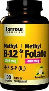 Jarrow Formulas Methyl B-12/Methyl Folate Pyridoxal-5-phosphate P-5-P Lozenges