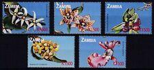 Zambia set of 5 flowers MNH