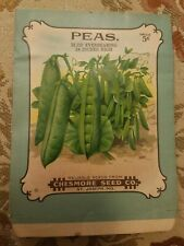 Vintage 1900's lithograph Peas, seed package, Chesmore seed company