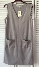 NWT Max Studio Faux Suede Ash Grey Dress - Size M