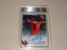 2015 ALEX REYES BOWMANS BEST OF '15 AUTO,SIGNED ROOKIE CARD GRADED BGS 9/10