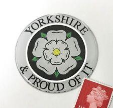 YORKSHIRE & PROUD OF IT - Yorkshire Rose Sticker Super Shiny Domed Finish