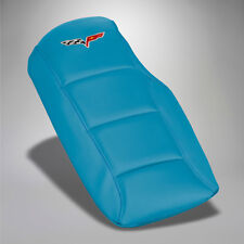 2005-2013 Corvette Leather Armrest Console Cushion Cover - Jetstream Blue