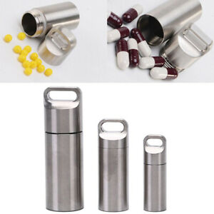 Mini Waterproof Seal Bottle Stainless Steel Outdoor Container Pill Bottle T AG