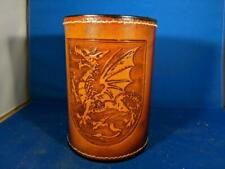Welsh Dragon Leather Mug by Elandah Leather