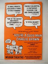 YOU'RE A GOOD MAN CHARLIE BROWN Herald TOUR Charles M. Schulz BOSTON c.1967