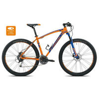 bici mtb mercury 29 alu 3x8v disco taglia 40 arancione blu Torpado Mountain bike
