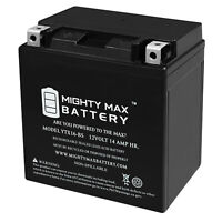 Mighty Max YTX16-BS 12V 14Ah Battery Replacement for Yuasa OEM# 26012-1296