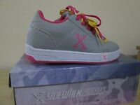 Sidewalk shoes size UK1 grey colour with pink trim