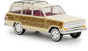 """Jeep Wagoneer """" Ligneuses """" Ivoire Clair, H0 Modèle Auto 1:87, Brekina 19857, Td"""