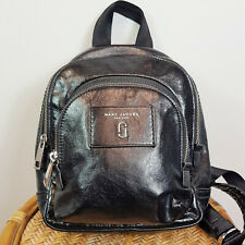 MARC JACOBS |  Womens Black Leather Double Pack Mini Backpack / Bag RRP$650