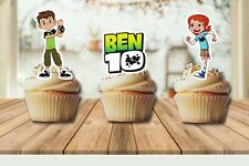 Ben 10 Edible Wafer Stand-Up Cupcake Toppers - Set of 16