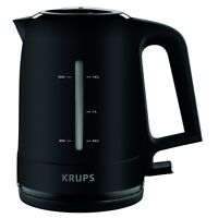 Krups BW2448 Schwarz Wasserkocher 1,6 l Fassungsvermögen 2.200 Watt Kalkfilter