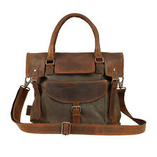 BSA Official Bag, Leather and Canvas Bag, 004, Classic Motorcycle Satchel