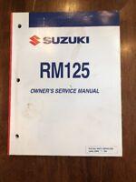 Suzuki Service Manual Repair RM125 2006 Model Motorcycle