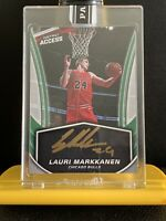 2017 Panini Instant Rookie Lauri Markkanen Auto Gold Ink 7/10 Benefits Charity💕