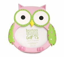 Adorable Baby Girl Owl Picture Frame Holds 3x4 Photo ~Gift Box Included~