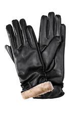 New Women Fashion Sexy Male Black Faux Leather PU Slim Winter Warm Soft  Gloves