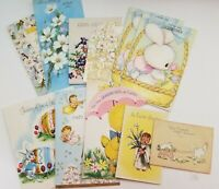 Vintage Easter Cards Lot of 11 Bunny Rabbits Angel Choir Boy