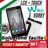 "DISPLAY LCD+TOUCH SCREEN PER WIKO ROBBY _5,5"" SCHERMO VETRO CORRIERE_24H! NERO!!"