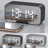 Réveil numérique portable Haut-parleurs Bluetooth sans fil Radio FM MP3 LED BR