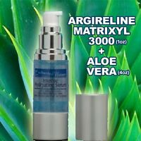 Argireline Matrixyl 3000 Hyaluronic Acid Serum + 100% PURE ORGANIC ALOE VERA GEL