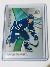 2019-20 SP GAME USED AUTHENTIC ROOKIES /41 DYMTRO TIMASHOV MAPLE LEAFS