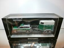 MINICHAMPS 52090 VOLKSWAGEN VW TOUAREG + TRAILER POLIZEI - 1:43 EXCELLENT IN BOX