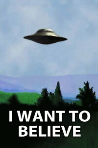 63710 UFO The X-Files I Want To Believe Wall Print POSTER UK