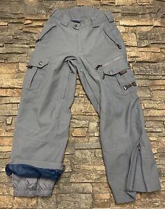 Mens Sims Snowboard Cargo Pants Sz S Gray Adj Waist Clean!