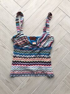 Missoni Chevron Printed Knitted Top Blouse IT42