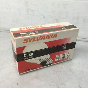 Sylvania 100 Watt - A19 Incandescent Light Bulb Clear  - 120 Volt (Box of 4)