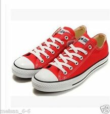 Women Lady ALL STARs Chuck Taylor Ox Low Top classic Red Canvas Sneakers US10