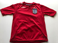 England National Team Umbro Youth Size Small Soccer Jersey Red