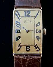 VINTAGE PAUL DITISHEIM 14K SOLID GOLD RECTANGULAR CASE MANUAL WIND WATCH