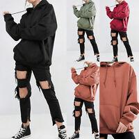 Damen Langarm Hoodie Sweatshirt Sweater Pullover Lose Kapuzenpullover Man 2018