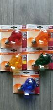 10 x Osram LED lamp Filament E 27 2W.=15W. Blau Rot Gelb Grun Orange,jede 2x