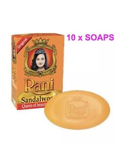 Rani Sandalwood Body Soap 10 X 90g Pack (UK SELLER) (Queen Of The Beauty Soaps)