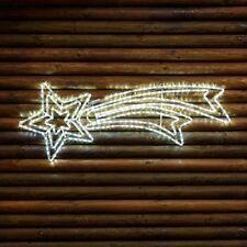Stella Cometa Tubo Luminoso Bianco Freddo LED Flash 120 cm Decorazione Natale