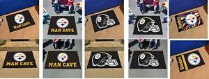 Pittsburgh Steelers Man Cave Rug All Star Utlity Starter Tailgater NFL FANMATS