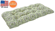Bossima Outdoor/Indoor Cushion Patio Porch Wicker Swing Loveseat Pad Damask