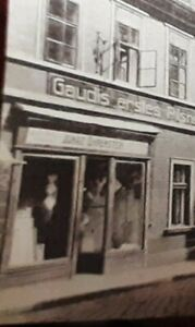 IGNATZ OHRENSTEIN,jüdischer LADEN und Kneipe ,Komotau, Alte Foto Postkarte